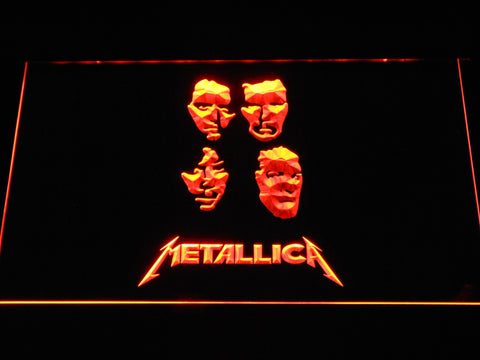Image of Metallica Faces LED Neon Sign - Orange - SafeSpecial