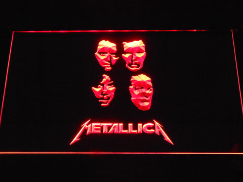 Image of Metallica Faces LED Neon Sign - Red - SafeSpecial