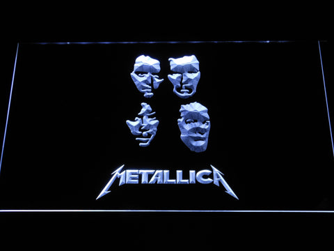 Image of Metallica Faces LED Neon Sign - White - SafeSpecial