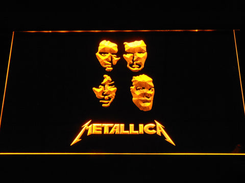 Metallica Faces LED Neon Sign - Yellow - SafeSpecial