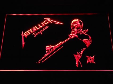 Metallica James Hetfield LED Neon Sign - Red - SafeSpecial