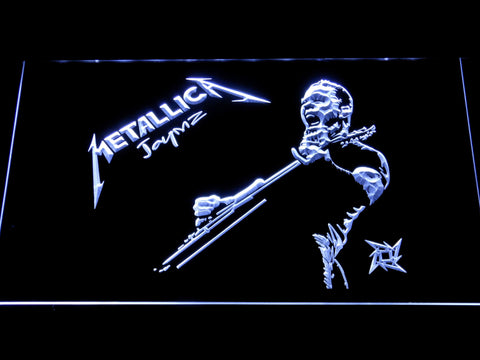 Metallica James Hetfield LED Neon Sign - White - SafeSpecial