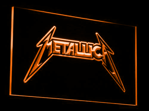 Image of Metallica LED Neon Sign - Orange - SafeSpecial
