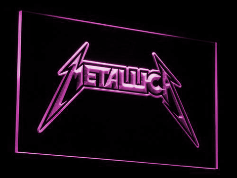Metallica LED Neon Sign - Purple - SafeSpecial