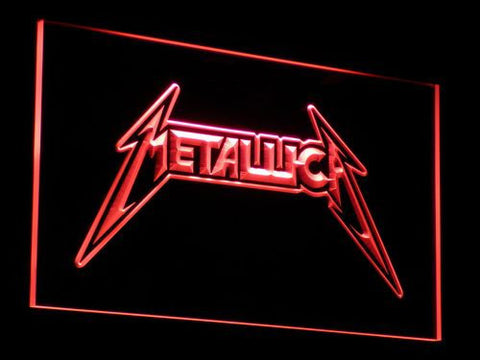 Image of Metallica LED Neon Sign - Red - SafeSpecial