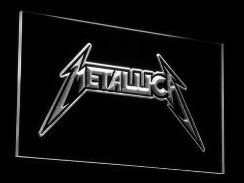 Image of Metallica LED Neon Sign - White - SafeSpecial