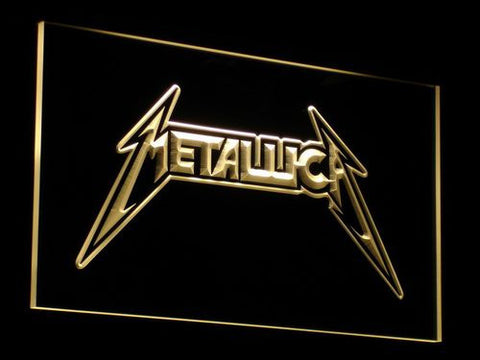 Image of Metallica LED Neon Sign - Yellow - SafeSpecial