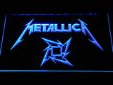 Metallica Star Logo LED Neon Sign - Blue - SafeSpecial