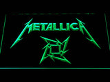 Metallica Star Logo LED Neon Sign - Green - SafeSpecial