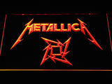 Metallica Star Logo LED Neon Sign - Orange - SafeSpecial