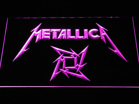 Metallica Star Logo LED Neon Sign - Purple - SafeSpecial