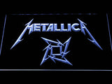 Metallica Star Logo LED Neon Sign - White - SafeSpecial