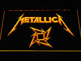 Metallica Star Logo LED Neon Sign - Yellow - SafeSpecial