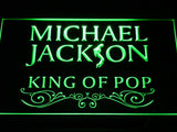 Michael Jackson King of Pop Text LED Neon Sign - Green - SafeSpecial