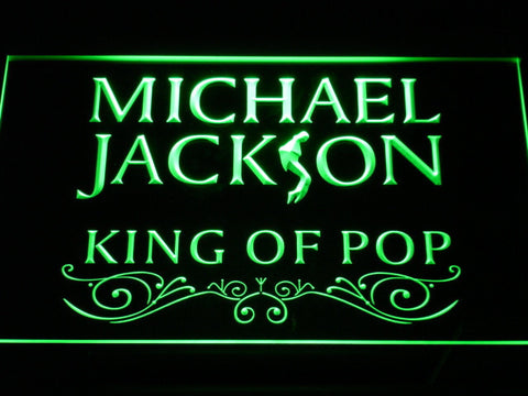 Image of Michael Jackson King of Pop Text LED Neon Sign - Green - SafeSpecial