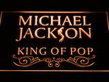 Michael Jackson King of Pop Text LED Neon Sign - Orange - SafeSpecial