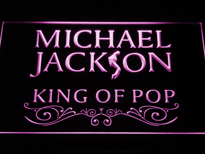 Michael Jackson King of Pop Text LED Neon Sign - Purple - SafeSpecial