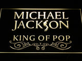 Michael Jackson King of Pop Text LED Neon Sign - Yellow - SafeSpecial