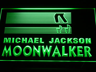 Michael Jackson Moonwalker Bars LED Neon Sign - Green - SafeSpecial