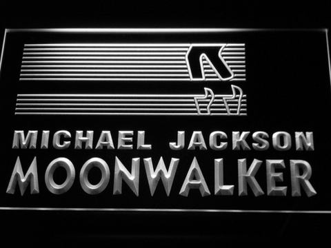Image of Michael Jackson Moonwalker Bars LED Neon Sign - White - SafeSpecial