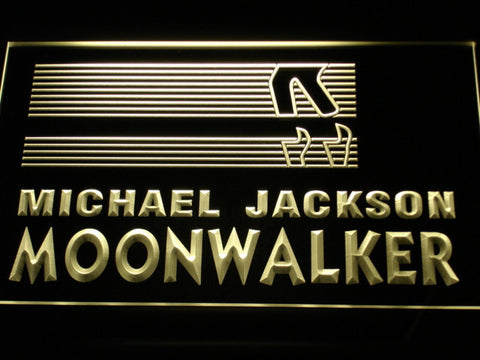 Image of Michael Jackson Moonwalker Bars LED Neon Sign - Yellow - SafeSpecial