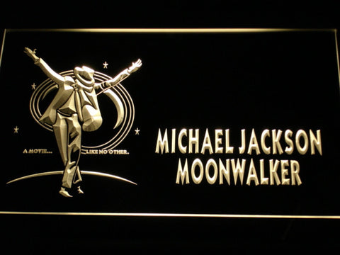 Michael Jackson Moonwalker LED Neon Sign - Yellow - SafeSpecial