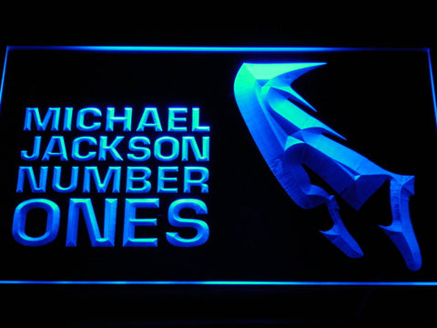Michael Jackson Number Ones LED Neon Sign - Blue - SafeSpecial