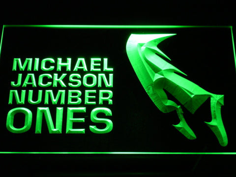 Michael Jackson Number Ones LED Neon Sign - Green - SafeSpecial