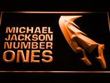 Michael Jackson Number Ones LED Neon Sign - Orange - SafeSpecial