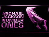 Michael Jackson Number Ones LED Neon Sign - Purple - SafeSpecial
