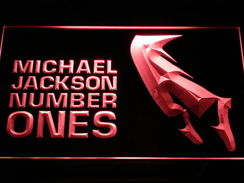 Michael Jackson Number Ones LED Neon Sign - Red - SafeSpecial