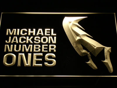 Michael Jackson Number Ones LED Neon Sign - Yellow - SafeSpecial
