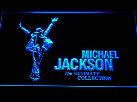Image of Michael Jackson Ultimate Collection LED Neon Sign - Blue - SafeSpecial