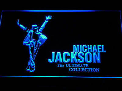 Michael Jackson Ultimate Collection LED Neon Sign - Blue - SafeSpecial