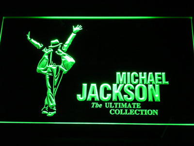 Michael Jackson Ultimate Collection LED Neon Sign - Green - SafeSpecial