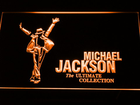 Image of Michael Jackson Ultimate Collection LED Neon Sign - Orange - SafeSpecial