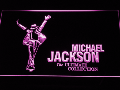 Michael Jackson Ultimate Collection LED Neon Sign - Purple - SafeSpecial