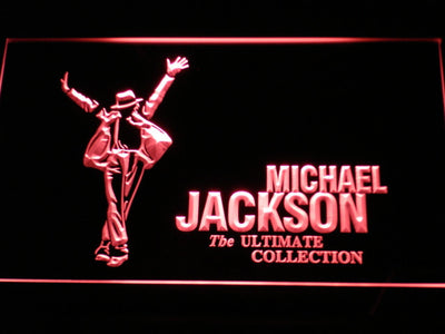 Michael Jackson Ultimate Collection LED Neon Sign - Red - SafeSpecial