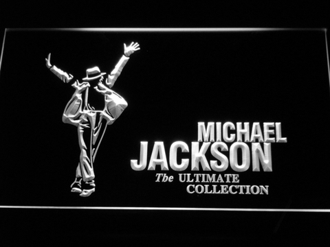 Michael Jackson Ultimate Collection LED Neon Sign - White - SafeSpecial