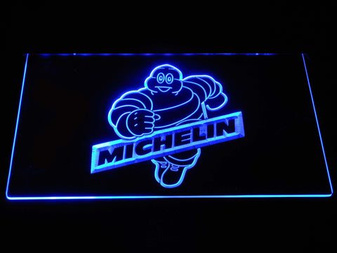 Image of Michelin Bibendum LED Neon Sign - Blue - SafeSpecial