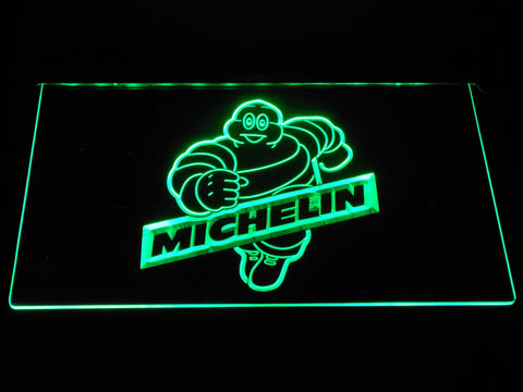 Image of Michelin Bibendum LED Neon Sign - Green - SafeSpecial