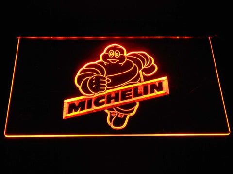 Image of Michelin Bibendum LED Neon Sign - Orange - SafeSpecial