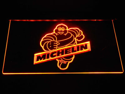 Michelin Bibendum LED Neon Sign - Orange - SafeSpecial