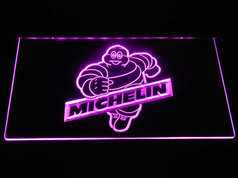 Image of Michelin Bibendum LED Neon Sign - Purple - SafeSpecial
