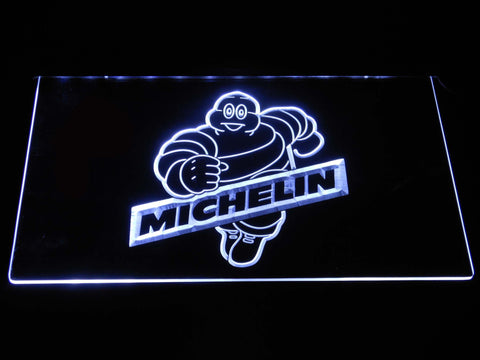 Image of Michelin Bibendum LED Neon Sign - White - SafeSpecial