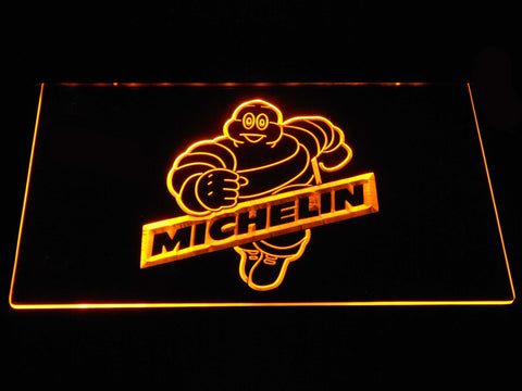 Image of Michelin Bibendum LED Neon Sign - Yellow - SafeSpecial