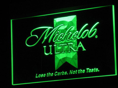 Michelob Ultra LED Neon Sign - Green - SafeSpecial