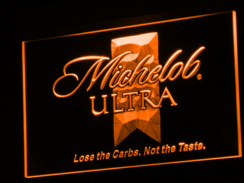 Michelob Ultra LED Neon Sign - Orange - SafeSpecial