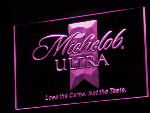 Michelob Ultra LED Neon Sign - Purple - SafeSpecial