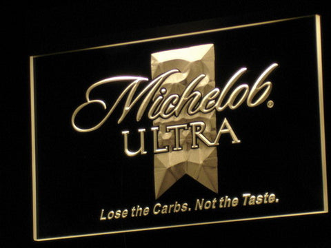 Michelob Ultra LED Neon Sign - Yellow - SafeSpecial